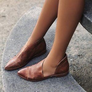 Free People royale brown flat booties